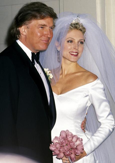 Дональд Трамп и Марла Мейплз свадьба