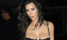 Ким показала бюст в роскошном нижнем белье