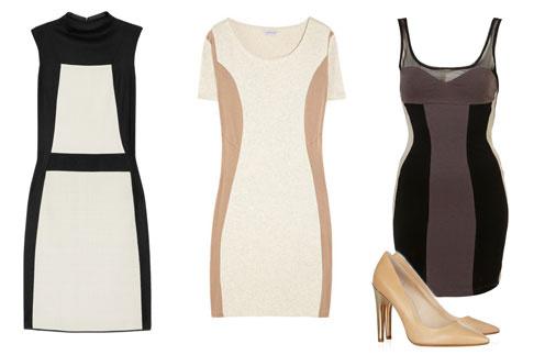 Слева направо: платье Narciso Rodriguez, платье Surface to Air, платье TopShop, туфли Kors Michael Kors