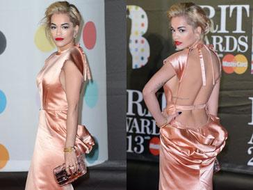 Рита Ора на Brit Awards-2013 в платье от Ulyana Sergeenko