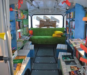 Книжный автобус «Бампер»