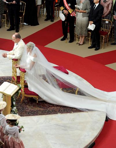 Свадьба Альберта II и Шарлин Уиттсток.