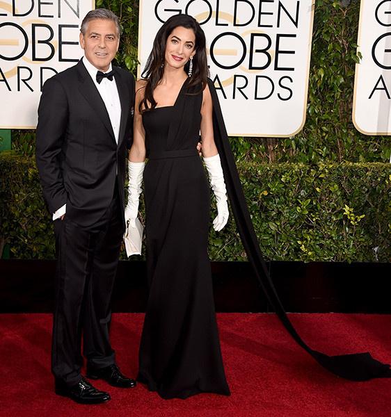 Клуни с женой фото