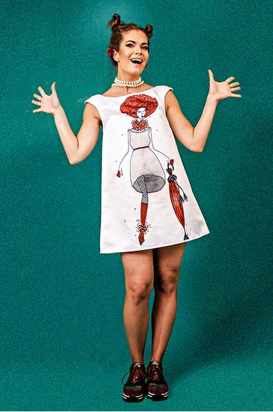 Настя Белковская, неделя моды в Берлине