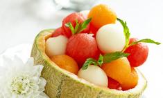 Арбузная корзинка: оригинальный десерт к летнему столу