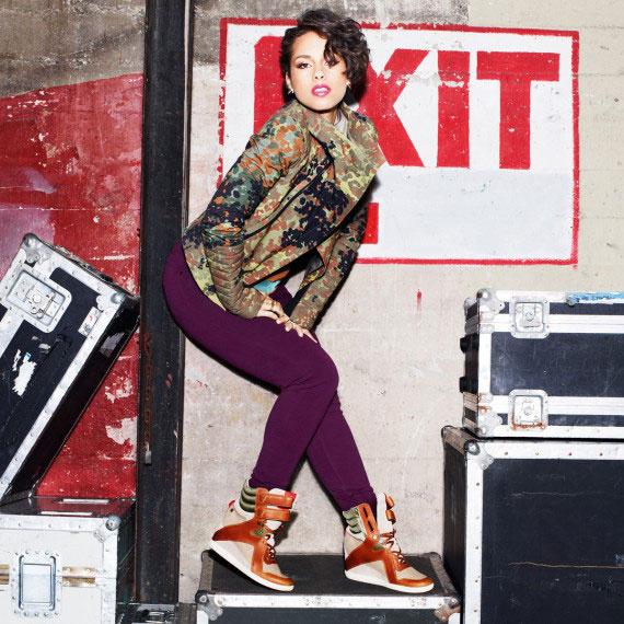 Алиша Кис (Alicia Keys) в кампании Reebok