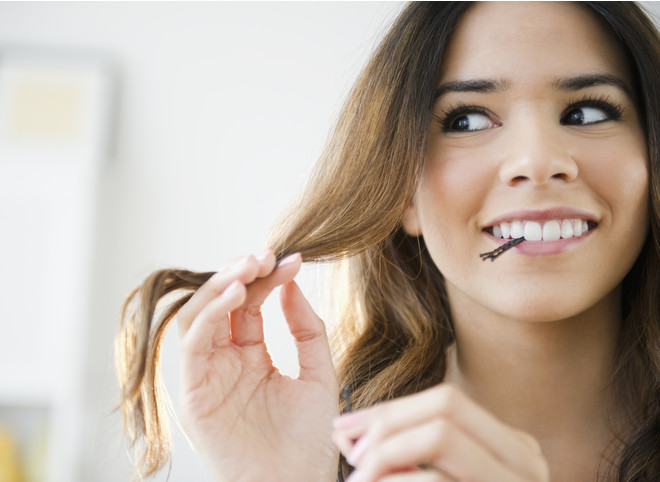 Закалывания длинных волос