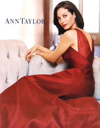 Кристи Тарлингтон в рекламной кампании Ann Taylor