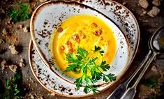 Крем-суп из молодой моркови со сливками