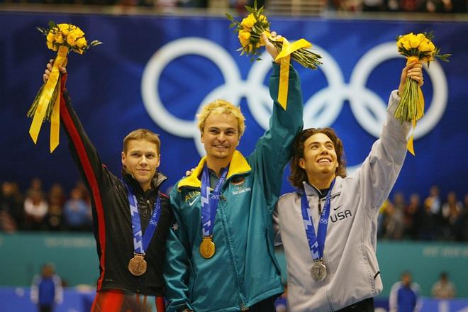 Солт-Лейк-Сити, 2002 год: Стивен Брэдбери из Австралии, конькобежный спорт