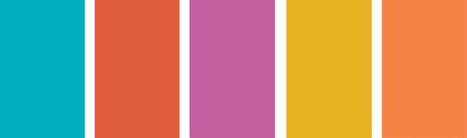 Цветовая гамма (слева направо): Sugar Bag Light, матовая эмульсия, Farrow & Ball. Volcanic Splash 2, матовая эмульсия, Dulux. Velvet Plum, эмульсия с эффектом шелка, Crown. Tarragon Glory 3, глянцевая эмульсия, Dulux. Jamaican Ginger 3, матовая эмульсия, Dulux.