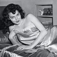 Эва Гарднер на съемках фильма «Одно прикосновение Венеры»