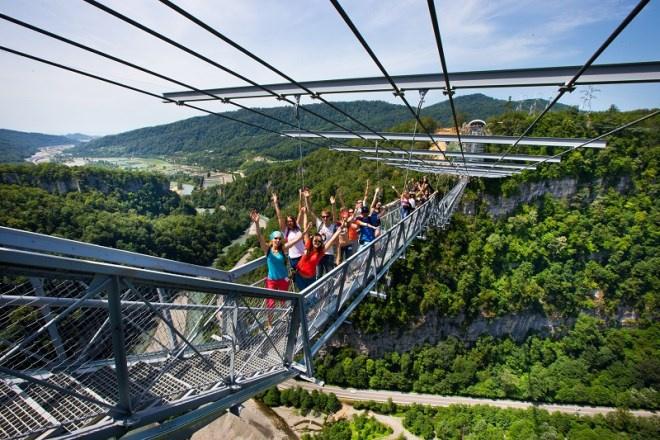 самый длинный мост в мире, банджи-джампинг, скайпарк Сочи