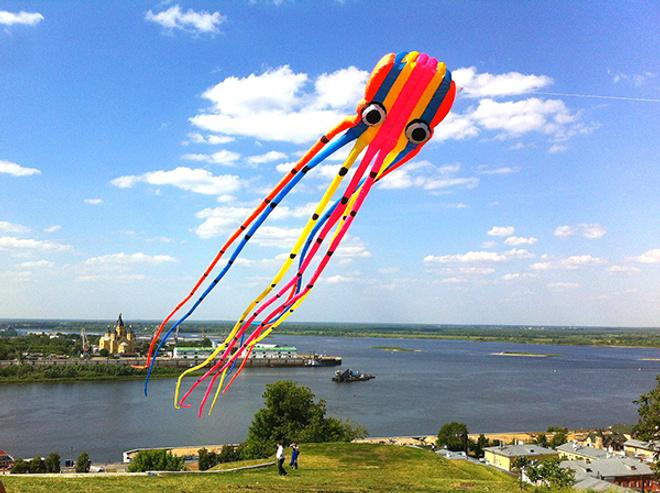 Фестиваль воздушных змеев в Нижнем Новгороде