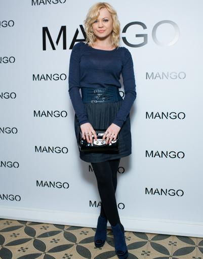 Ирина Ортман на показе Mango весна-лето 2012