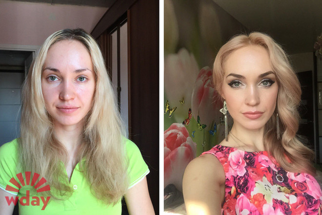 Эффектное преображение: 15 женщин без макияжа и после. Сравни фото