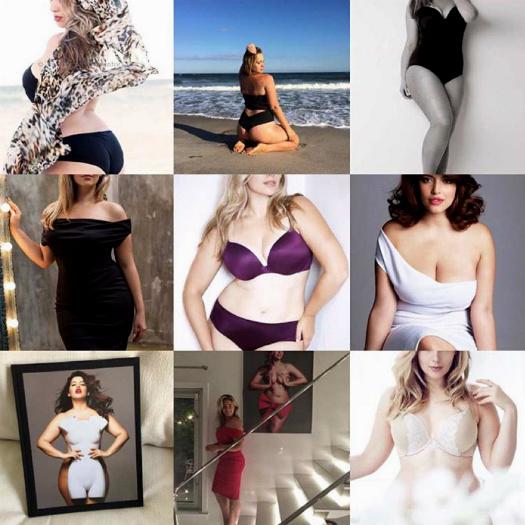 9 секси-образов популярной русской модели Марины Булаткиной: фотоplus size