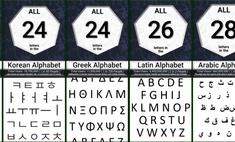 букв иероглифов символов алфавитах мира слов популярных языках