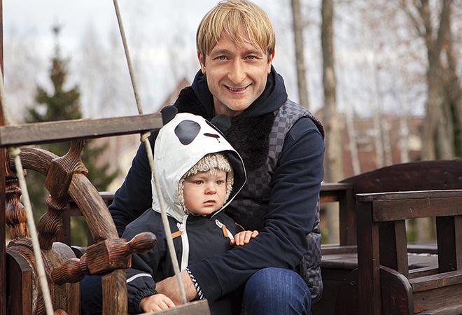 Евгений Плющенко с сыном, фото