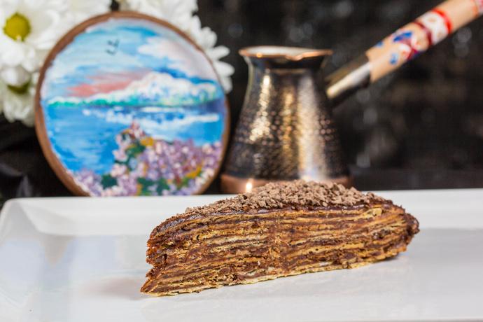Слоеный шоколадный торт «Микадо»