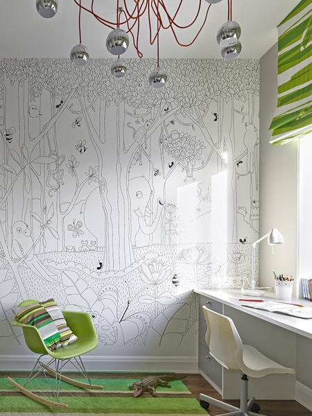 Детская в квартире, оформленной дизайнерами Тарасом Безруковым и Стасом Самковичем из студии TS Design.