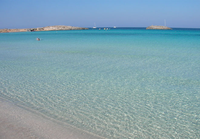 Playa de ses Illetes, Форментера, Балеарские острова, Испания