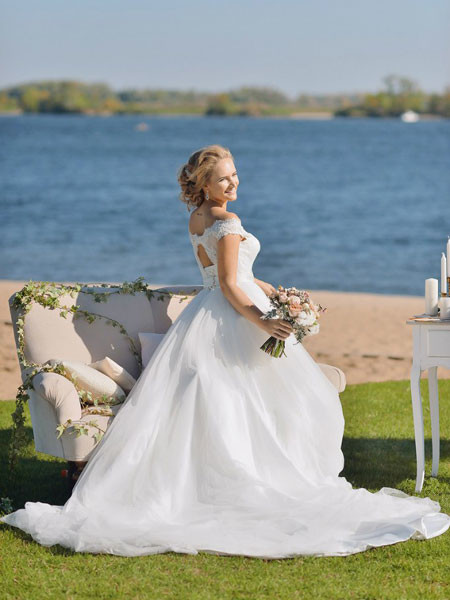 Красивые свадебные платья фото