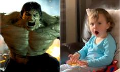 Реакция двухлетнего ребенка, который впервые в жизни видит Халка (видео)