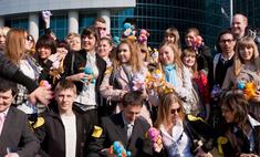 В Москве отметили День офисной любви и дружбы