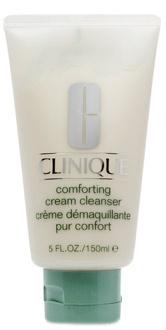 Мягкий крем для снятия макияжа, Comfortung Cream Cleancer, Clinique. Подходит для сухой и чувствительной кожи. Смывается водой или снимается ватным диском