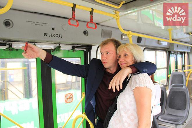 селфи с автобусом