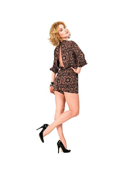 Комбинезон Lucca Couture, ремень Topshop, туфли No name