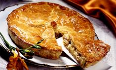 Пирог с капустой и мясом цыпленка