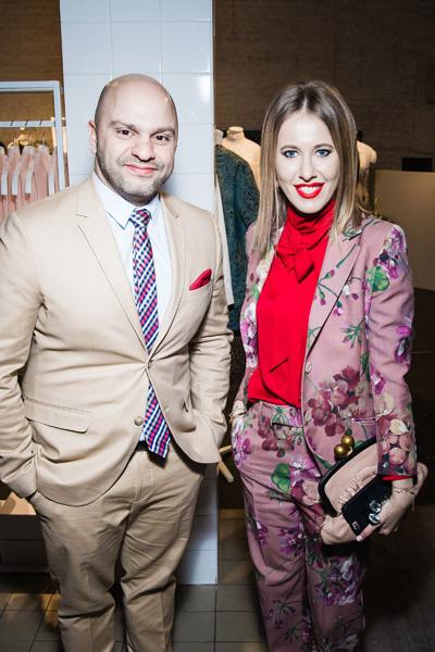 Ксения Собчак и Саэд Эль Ашкар на презентации H&M Conscious Exclusive