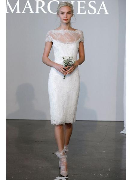 12 коротких платьев для невесты | галерея [1] фото [2]