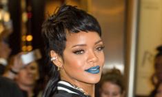 Тренд макияжа от Рианны: голубая помада