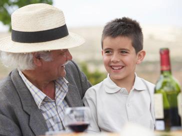 Привычка пить вино в кругу семьи и за