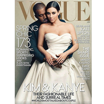 Ким Кардашьян на обложке Vogue