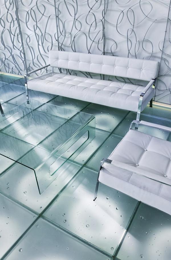 Как устроен стеклянный пол