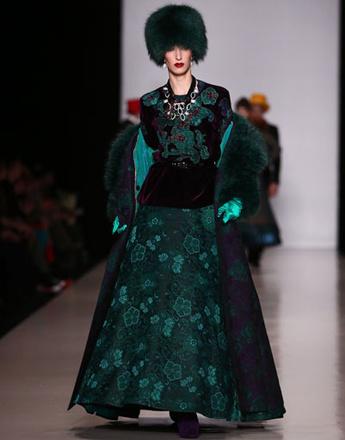 Показ коллекции SLAVA ZAITSEV осень-зима 2013/14 на Mercedes-Benz Fashion Week Russia