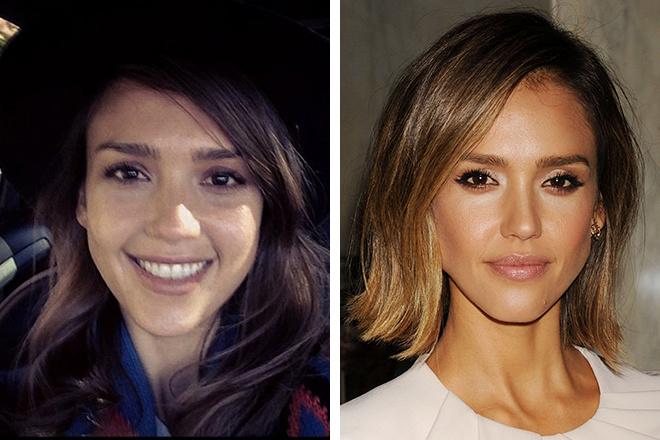 Джессика Альба без макияжа