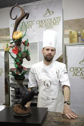 призер Национального отборочного тура Cacao Barry World Chocolate Masters Артем Глушков