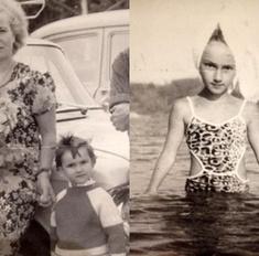 Лера Кудрявцева показала свои детские фотографии