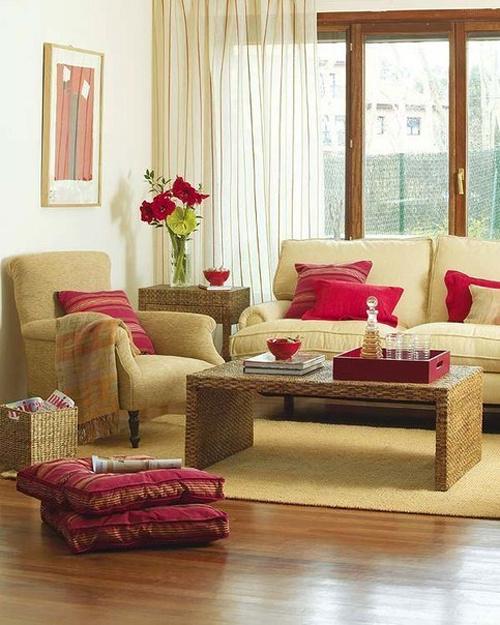 Яркий текстиль в декоре