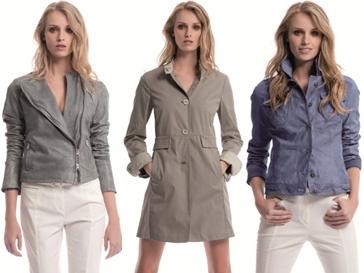 Коллекция кожаных курток и плащей Mabrun лето-2013