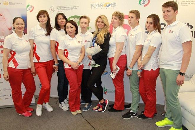 Вера Брежнева на Казанском марафоне 2016, фото