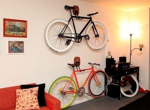 Как устроить велосипед в квартире