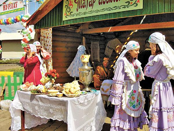 Веселый татаро-башкирский праздник