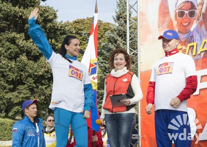 Волгоградцы на забеге Елены Исинбаевой фото