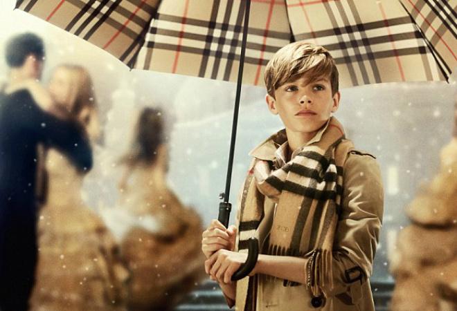 12-летний Ромео Бэкхем снялся в рождественском фильме Burrbery